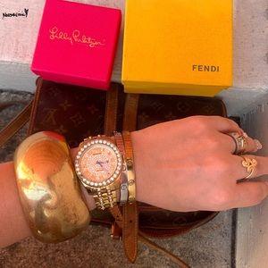 Ben-Amun Classic Gold-Tone Bangle Bracelet
